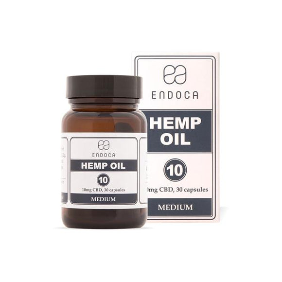 Endoca 300mg CBD Capsules Hemp Oil - 30 Soft Gel's