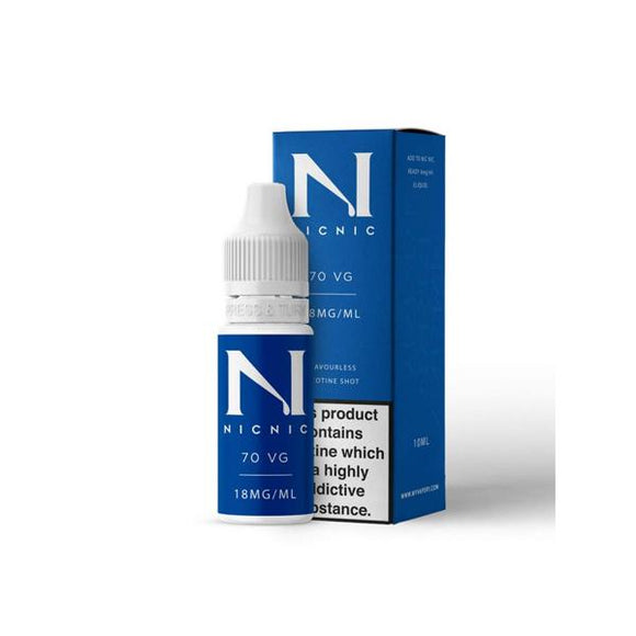 18mg Nic Nic Flavourless Nicotine Shot 10ml 70VG