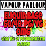 E-LIQUID BASE 85ML PREMIUM 0mg