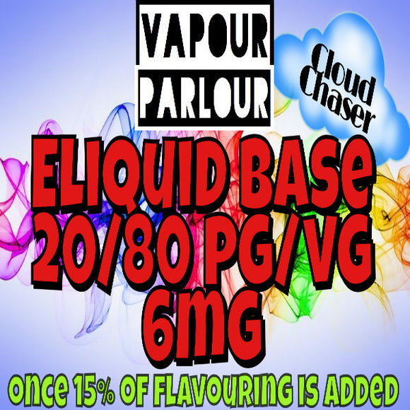 E-LIQUID BASE 85ML CLOUDCHASER 6MG