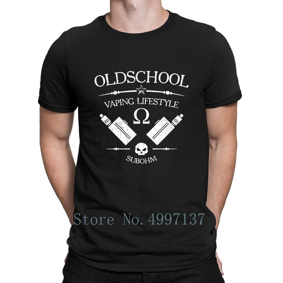 OLD SCHOOL VAPING LIFESTYLE T-SHIRT