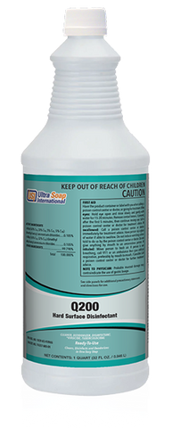 Q200 Hard Surface Disinfectant -1 Quart - EPA Approved to Kill Covid-19