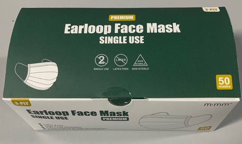 3 Ply Medical Mask  Box of 50 FDA APPROVED ($0.69 a mask)