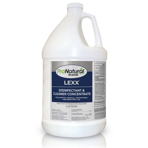 LEXX Disinfectant Gal - REG SCENT EFFECTIVE AGAINST COVID19 (Dilutes to $0.62 per 32oz.)