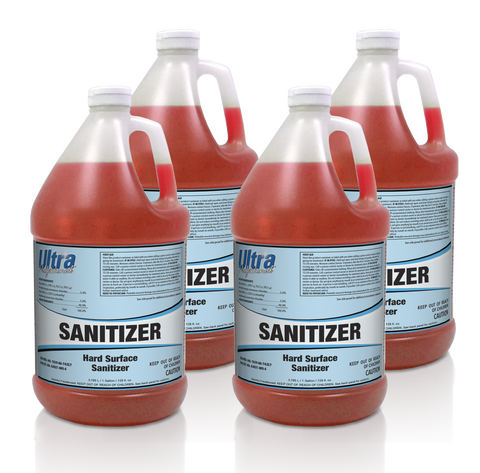 Ultra Professional - Sanitizer - Hard Surface Sanitizer - 4x1 Gallon