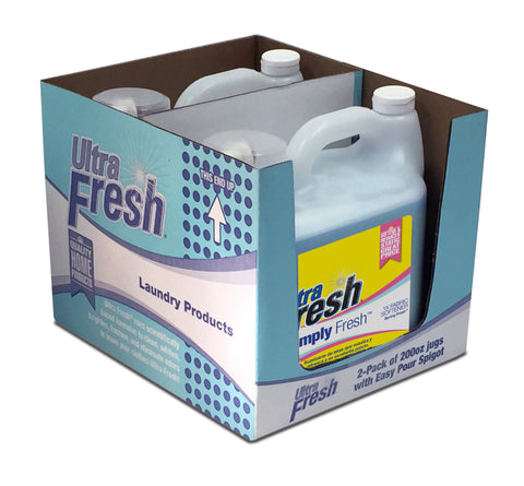 Club Pack of Simply Fresh™ Spring Fresh™ 1X Fabric Softener - 2/200oz Jugs