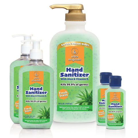 Hand Sanitizer with Aloe & Vitamin E - 62% Alcohol - Bundle & SAVE