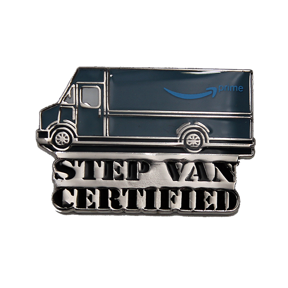 Amazon DSP Step Van Certified Lapel Pin