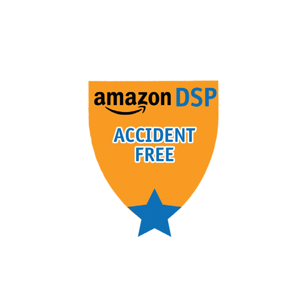 Amazon DSP Orange Accident Free - Motivational Pin