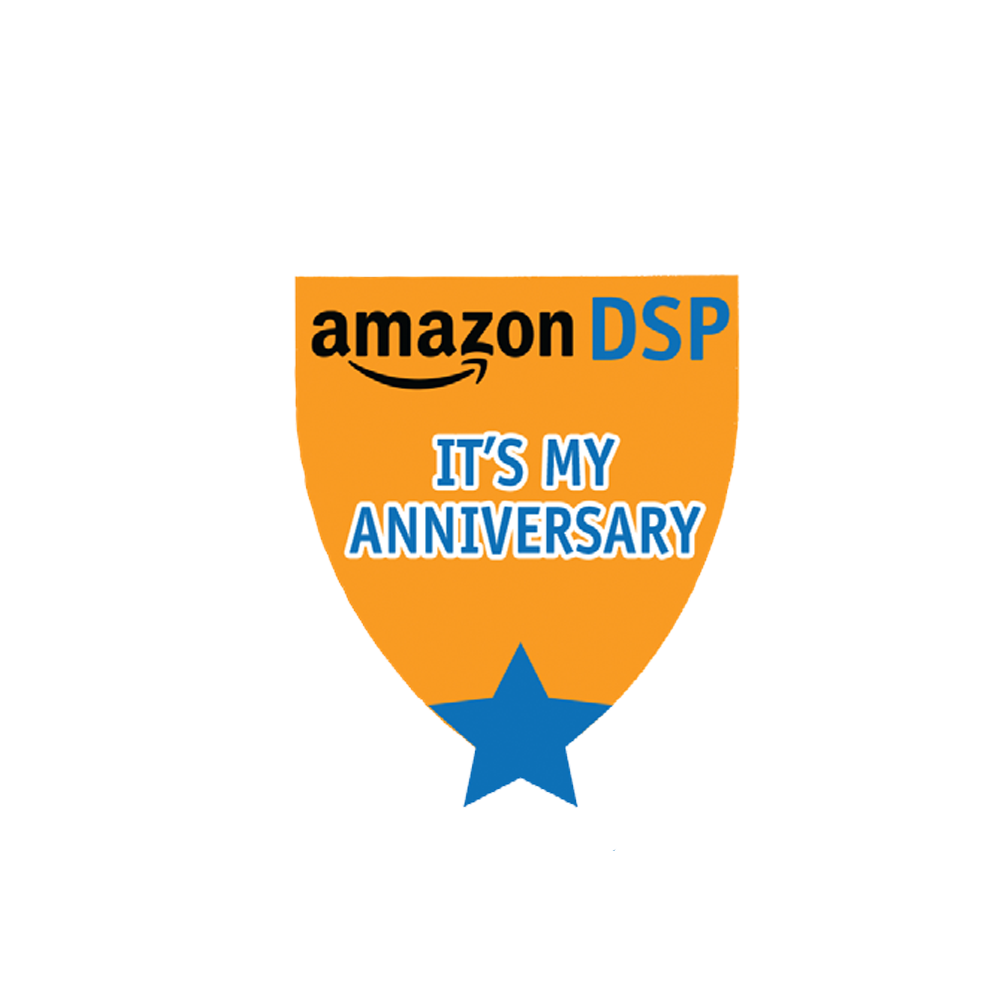Amazon DSP Orange - It's My Anniverary Pin