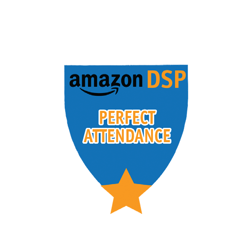 Amazon DSP Blue Perfect Attendance Motivational Pin