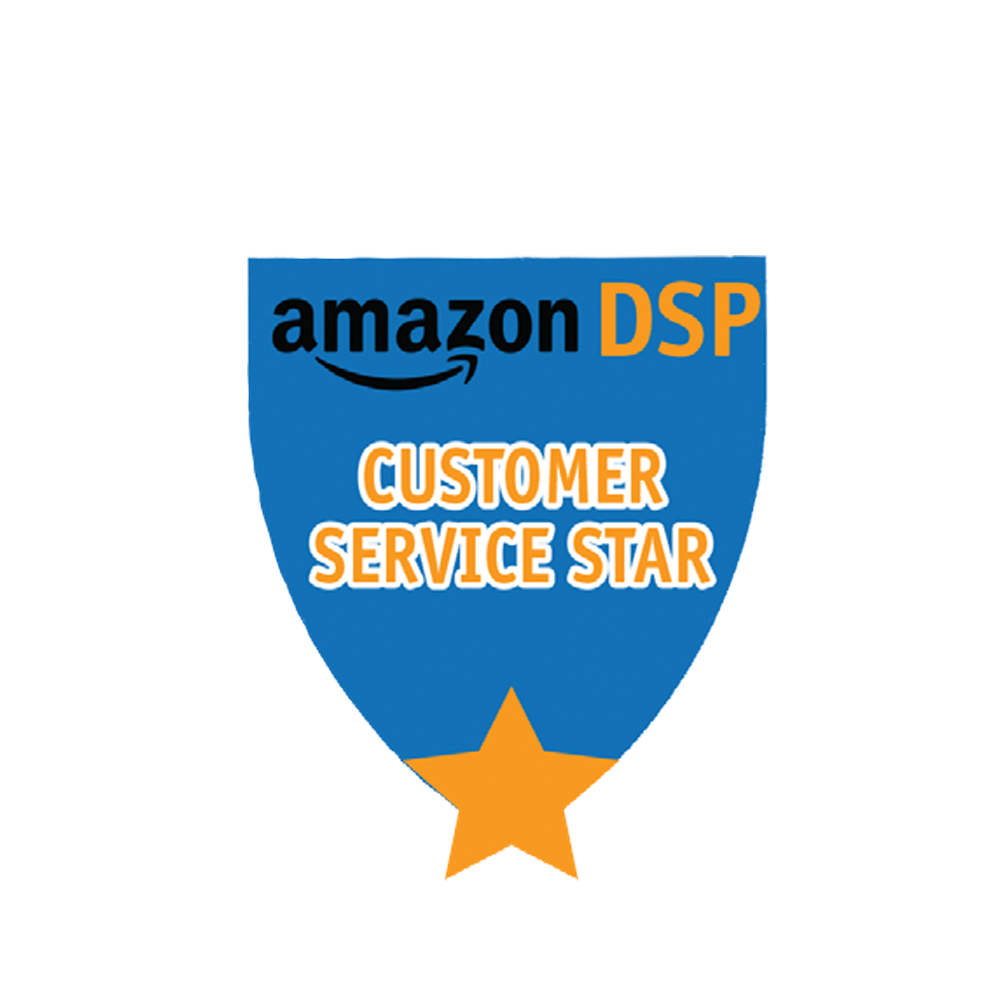 Amazon DSP Blue Customer Service Star - Motivational Pin