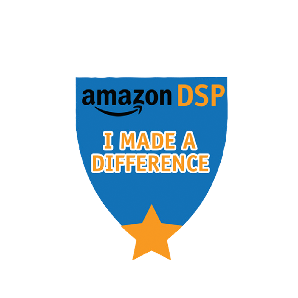 Amazon DSP Blue I Made a Difference Motivational Pin