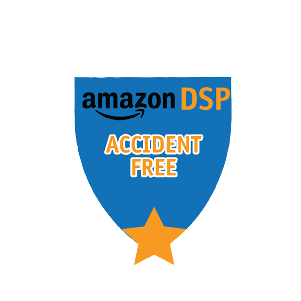 Amazon DSP Blue Accident Free - Motivational Pin