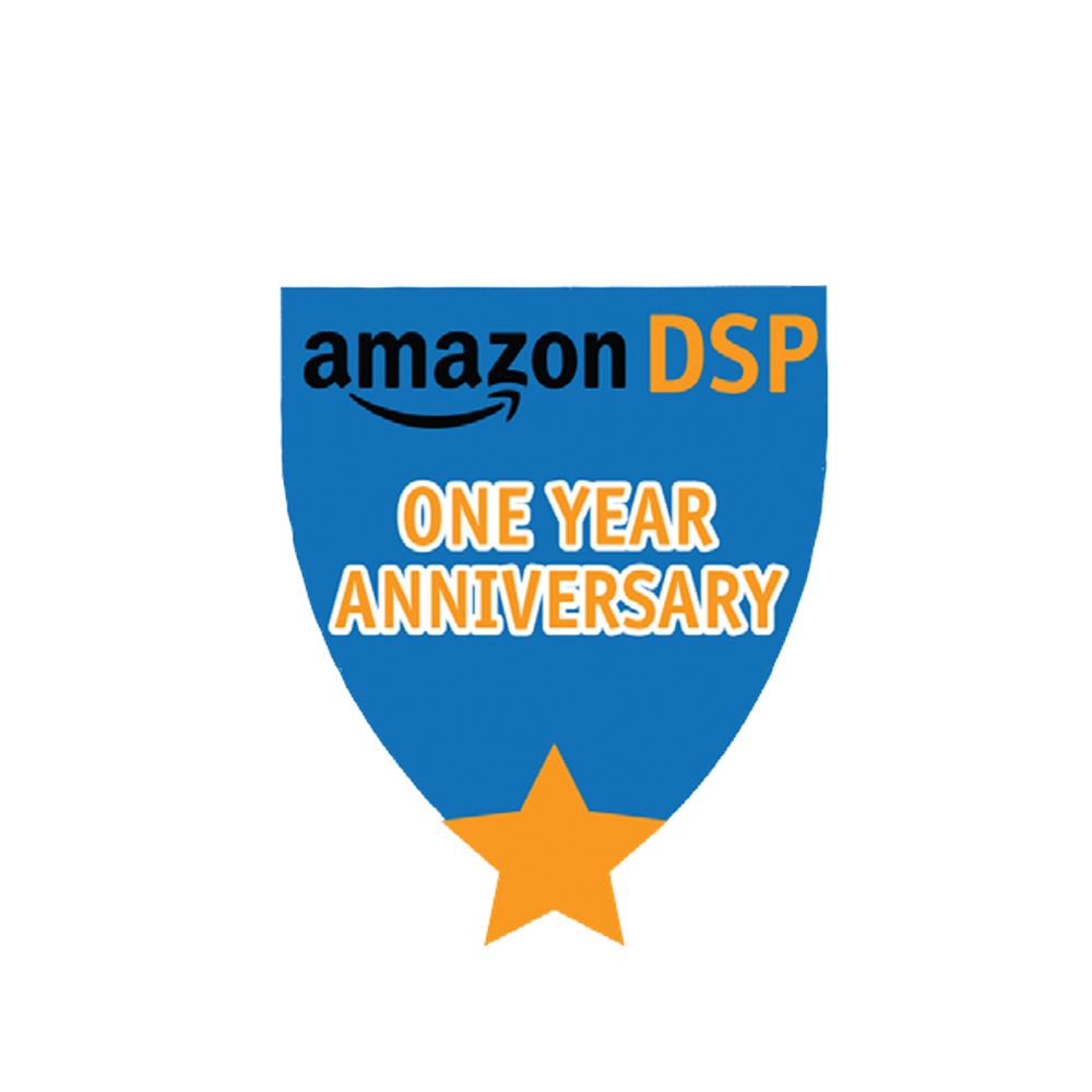 Amazon DSP Blue One Year Anniversary Pin