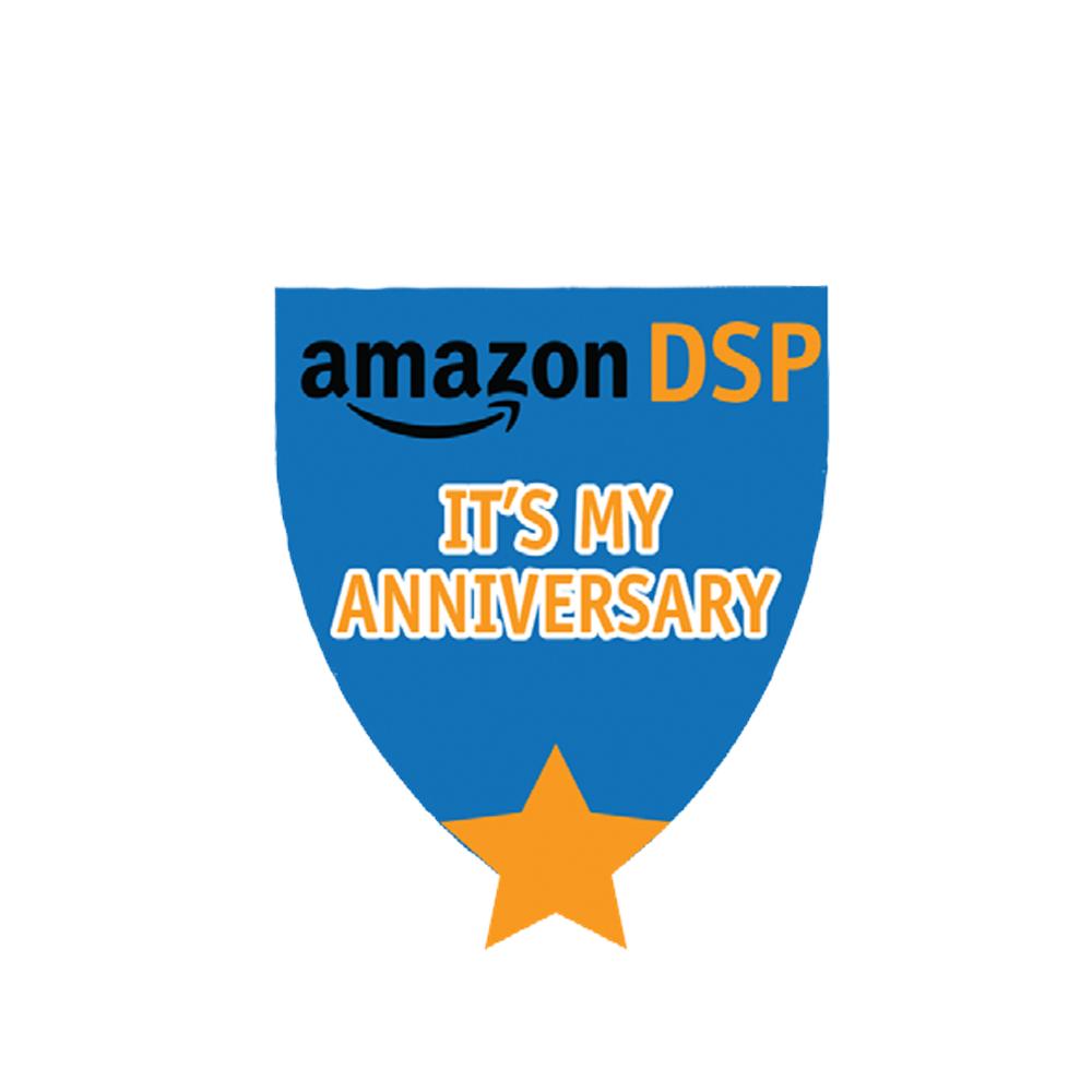 Amazon DSP Blue - It's My Anniverary Pin