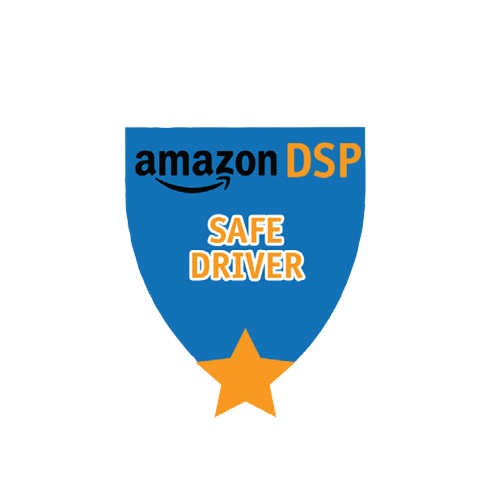 Amazon DSP Blue Safe Driver - Motivational Pin