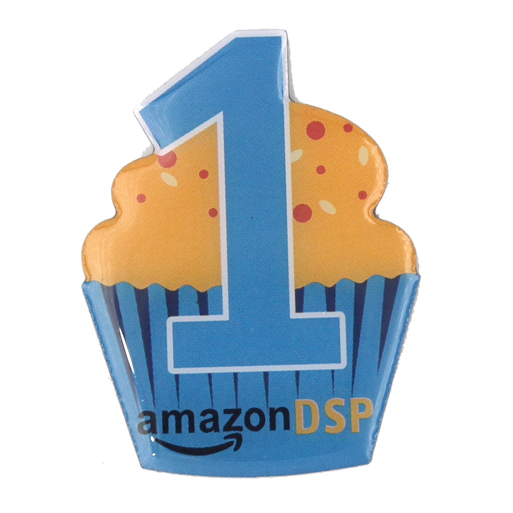 Amazon DSP Cupcake1 Year Pin