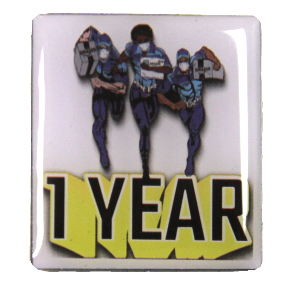 Amazon DSP Delivery Hero 1 Year Anniversary Pin