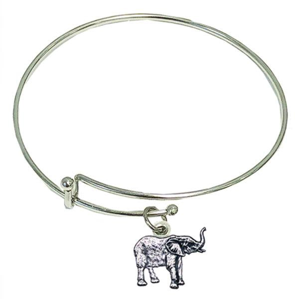 Shades of Blue Bracelet with Polar Bear Charm