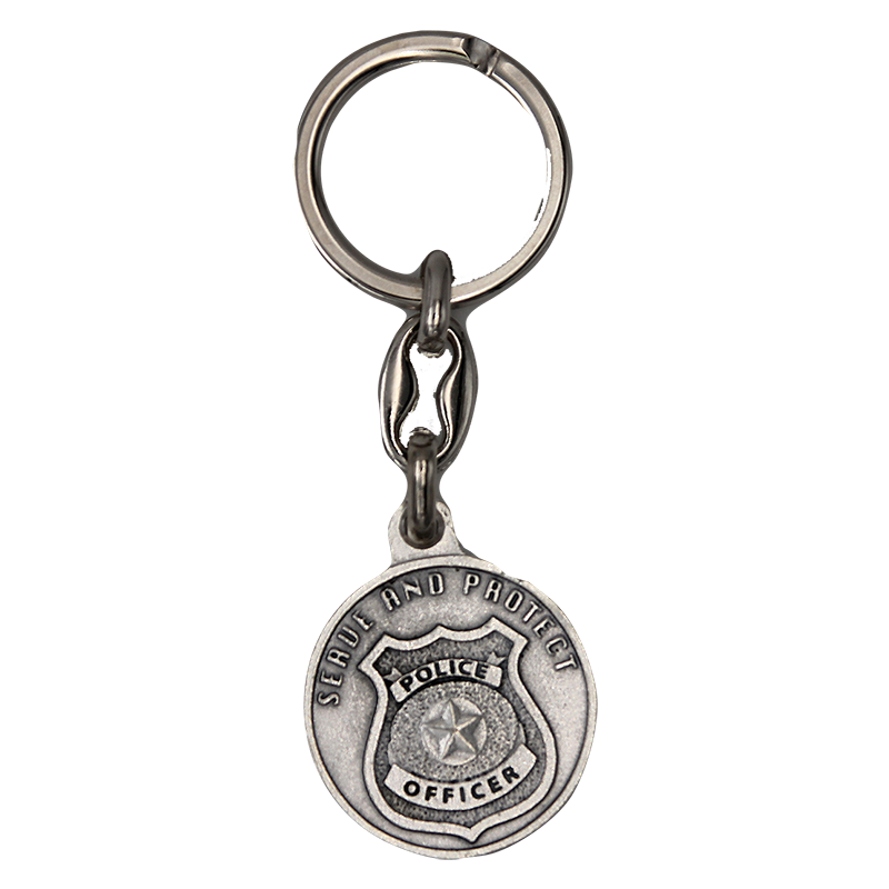 Serve & Protect Police Keychain