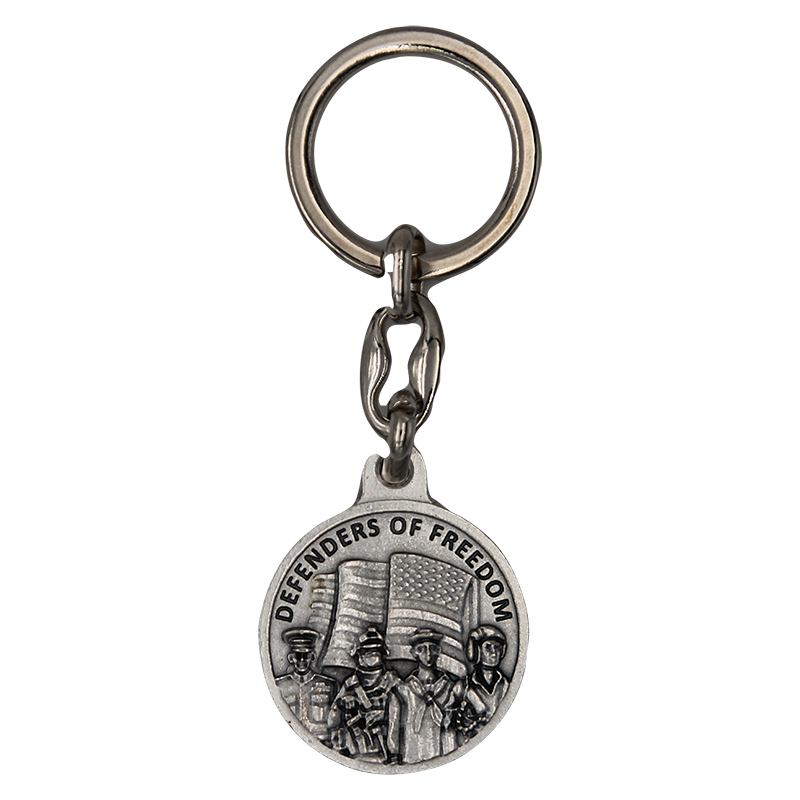 Defenders of Freedom Military Keychain