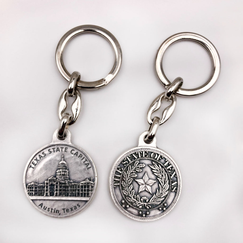 Texas State Capital Keychain with Seal