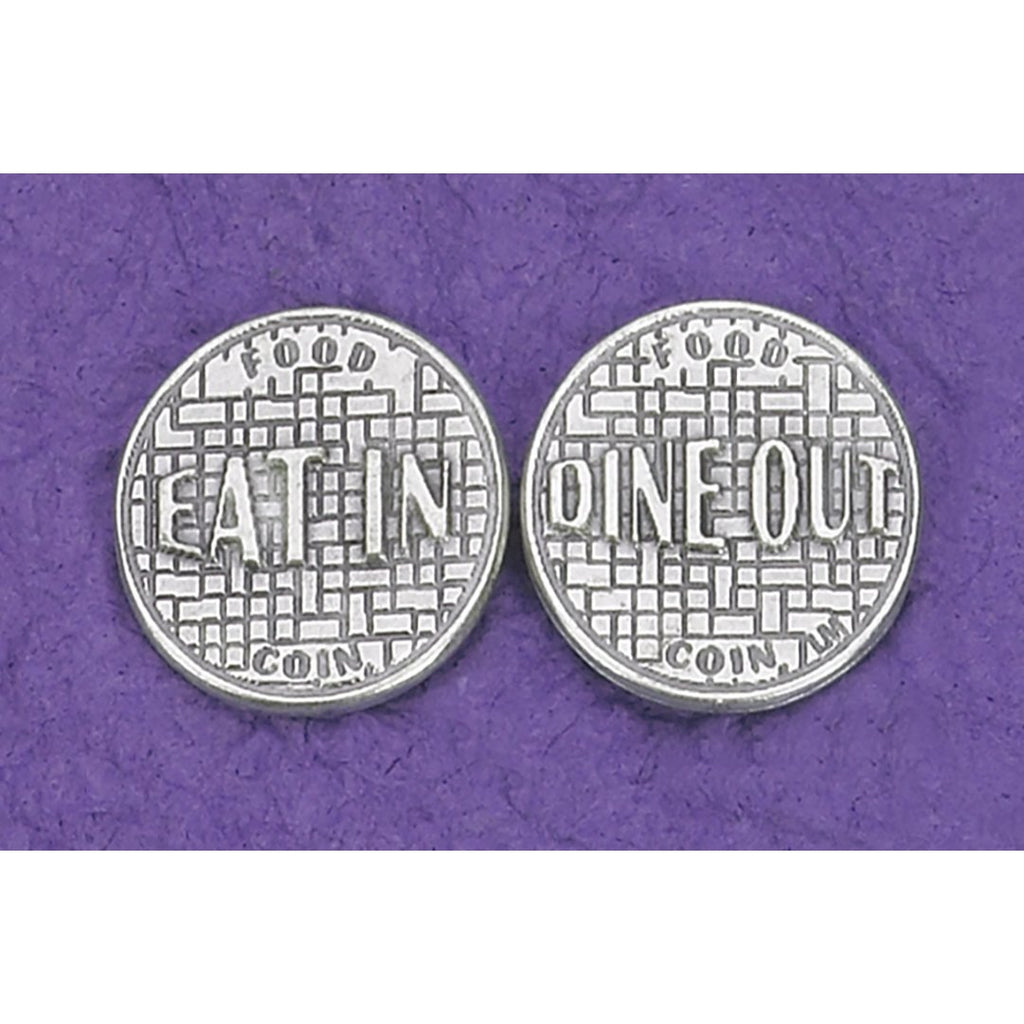 Food Coin - Eat In / Dine Out Coin