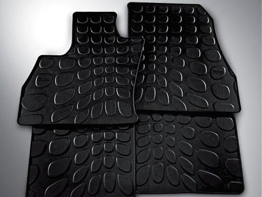 2014 - 2018 Fiat 500L Rubber Sluch Floor Mat Set Black 68227376AA