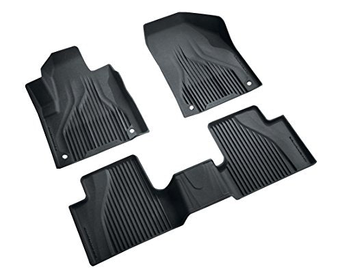 2016 ~ 2020 - Jeep Cherokee KL - All Weather Black Floor Mats - Made In The USA - 82214855AB