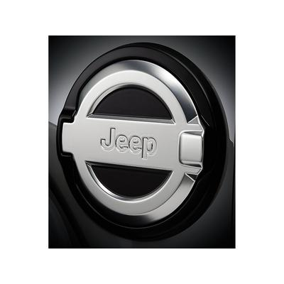 2018 - 2019 Jeep Wrangler JL - Aluminum Fuel Door with Jeep Logo - 82215122