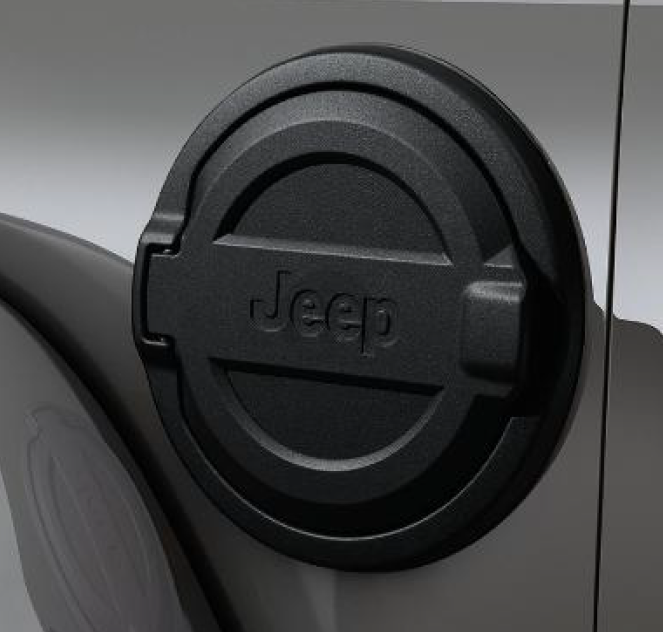 Jeep Wrangler JL - Aluminum Fuel Door Powdercoated Black - 82215123
