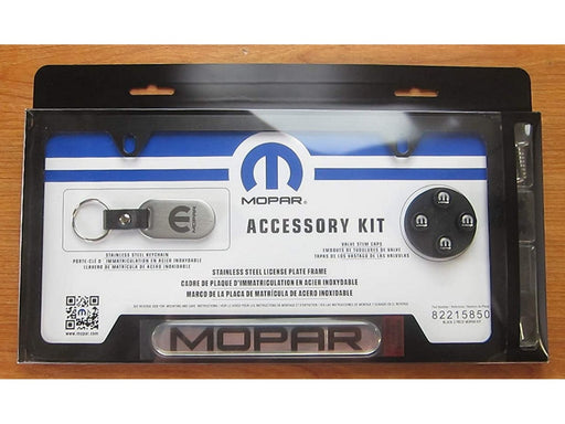 Mopar License Frame key Chain Valve Stem Caps Gift Set