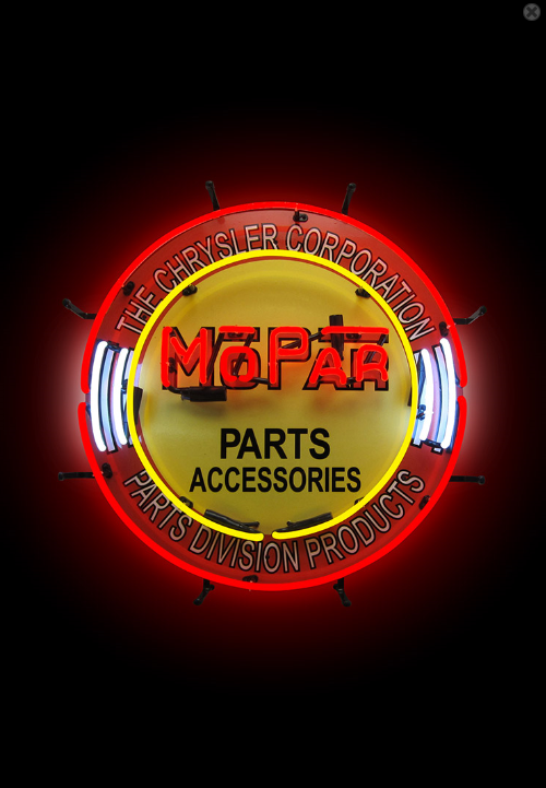 Mopar Parts Vintage Neon Sign - 12FYU