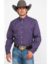 Cinch - Men's Long Sleeve Shirt - Purple