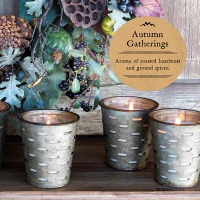 Park Hill Autumn Gatherings Olive Bucket Candle
