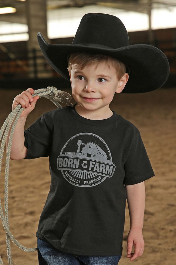 Cinch Boy's Short Sleeve T-Shirt - Black