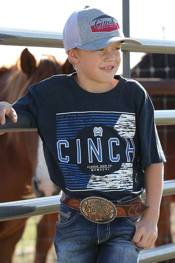 Cinch Boy's Short Sleeve T-Shirt - Navy