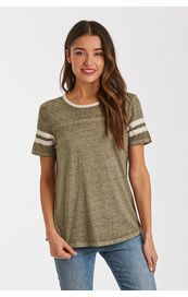 Another Love Shirt - Analisa Short Sleeve - Olive / Cream
