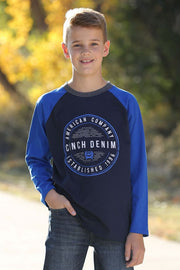 Cinch Boy's Long Sleeve T-Shirt - Blue
