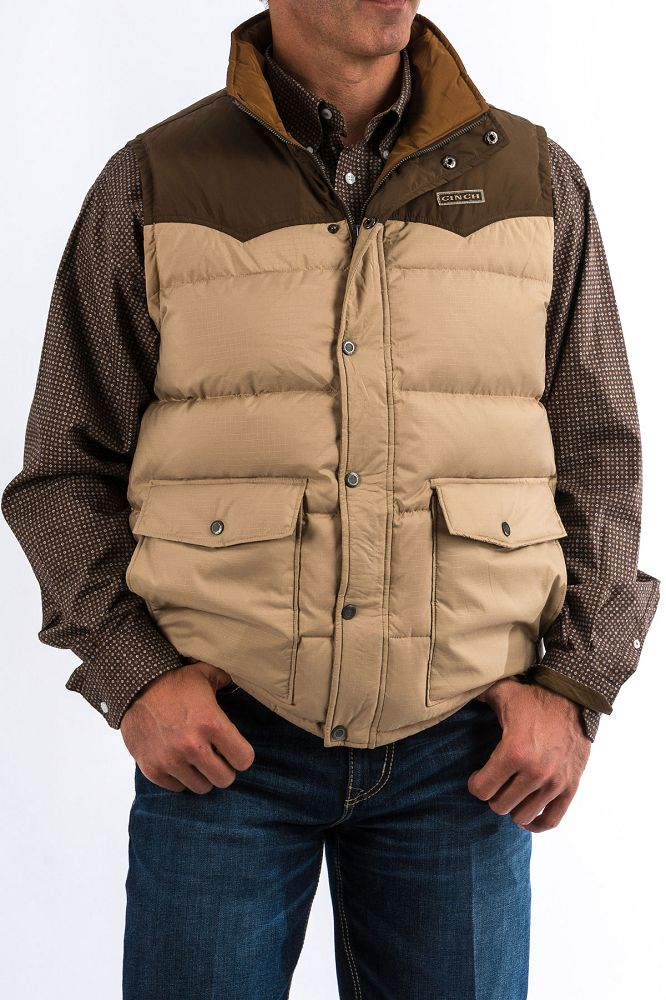 Cinch Men's Vest - Khaki
