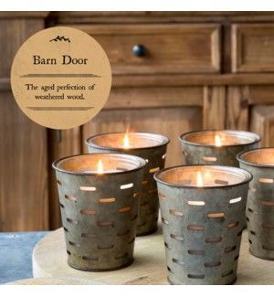 Park Hill Barn Door Olive Bucket Candle