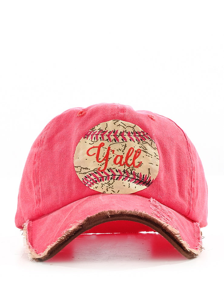 Cap -  Vintage Baseball Y'all Red