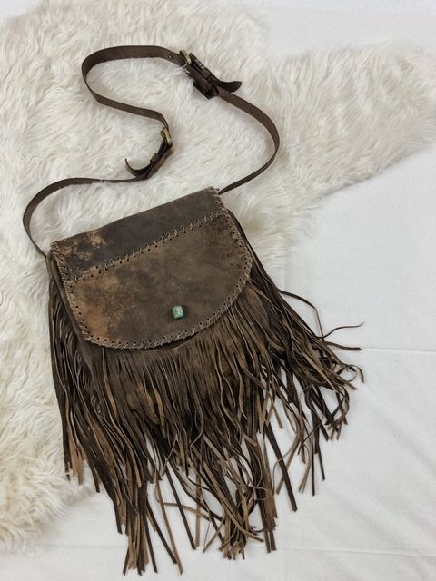 Juan Antonio Purse - Safari Tan w/ Fringe