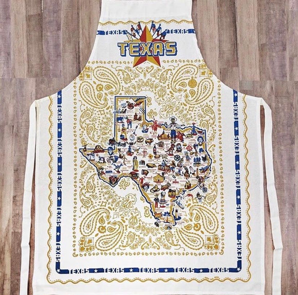 by Keep the Faye Texas Apron - White