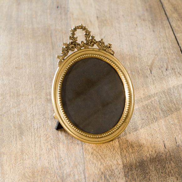 Antique Brass Round Picture Frame