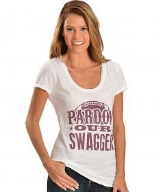 ATX Mafia Shirt - Pardon Our Swaggar Short Sleeve - White