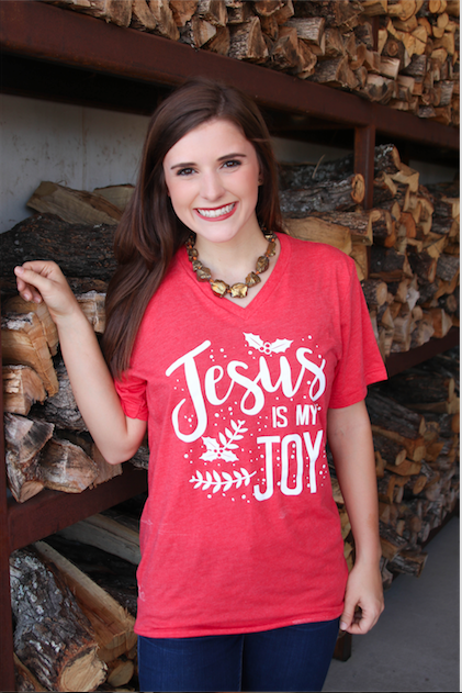 ATX Mafia Shirt - Jesus Is My Joy Short Sleeve - Red