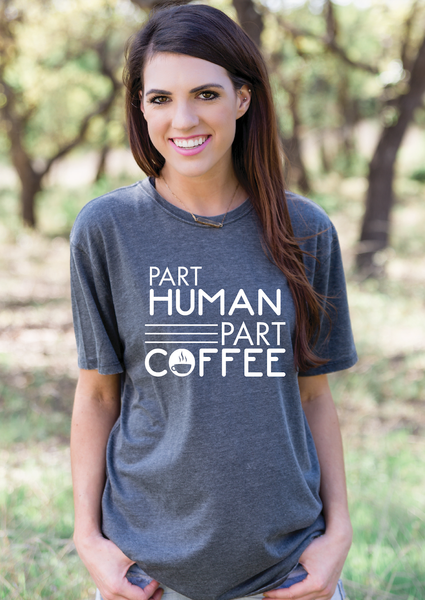 ATX Mafia Shirt - Part Human Part Coffee Short Sleeve - Charcoal