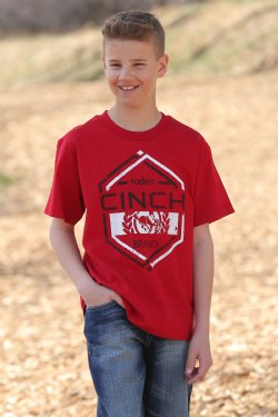 Cinch Boy's Short Sleeve T-Shirt - Red